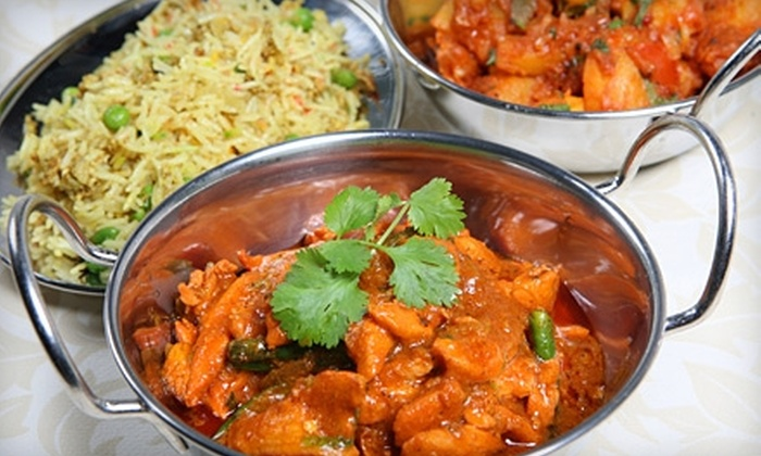 India House - Sandy: $23 for Tandoori Flatbread, Entrees, and Soft Drinks for Two at India House in Sandy