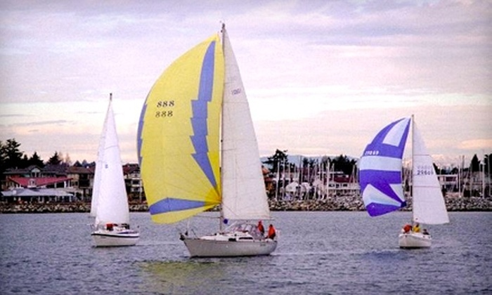 Sidney North Saanich Yacht Club - North Saanich: $30 for a Three-Hour Introductory Dinghy Sailing Lesson at Sidney North Saanich Yacht Club ($60 Value)