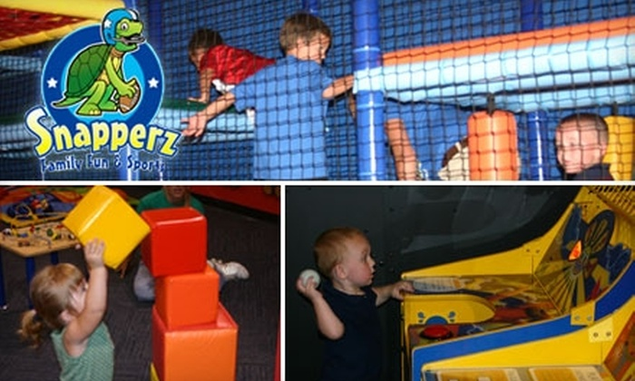 Snapperz Family Fun & Sports - Lawrence: $10 for Admission for One, Three Attractions, a Slice of Pizza, and a 16-Ounce Soft Drink at Snapperz Family Fun & Sports (Up to $28 Value)