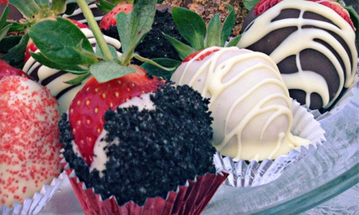 Ellie's Berries - Orlando: One  or Two Dozen Chocolate-Covered Strawberries with Choice of Topping for Delivery from Ellie's Berries (Up to 58% Off)
