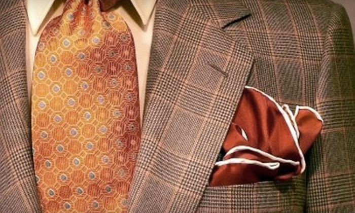 Jakob Custom Clothiers - Downtown: $625 for a Custom Suit Package from Jakob Custom Clothiers ($1,250 Value)