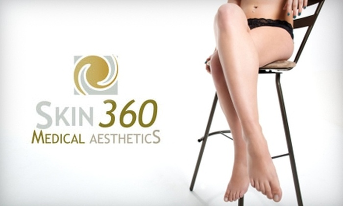 Skin 360 Medical Aesthetics - Folsom: $150 for Three Laser Hair-Removal Treatments at Skin 360 Medical Aesthetics in Folsom (Up to $750 Value)