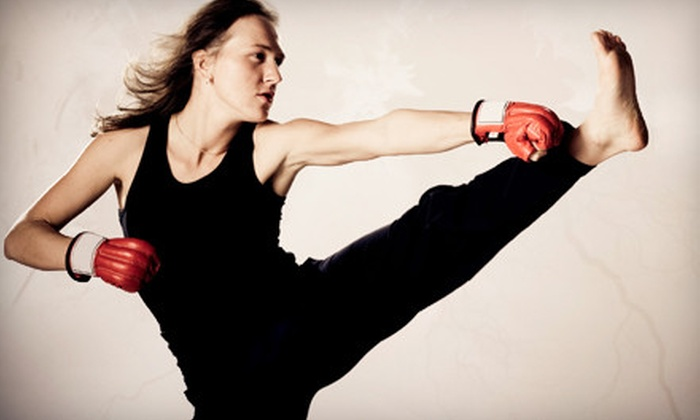 Steve Anderson Karate - Ledbury - Heron Gate - Ridgemont - Elmwood: One Month of Kickboxing Classes or Three-Month Kickboxing Package with Gloves at Steve Anderson Karate (Up to 86% Off)