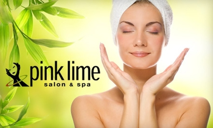 Pink Lime Salon & Spa - Downtown Vancouver: $67 for a Manicure, Pedicure, and Express Facial ($135 Value) or $149 for a Universal Contour Wrap and Mini Facial ($330 Value) at Pink Lime Salon & Spa