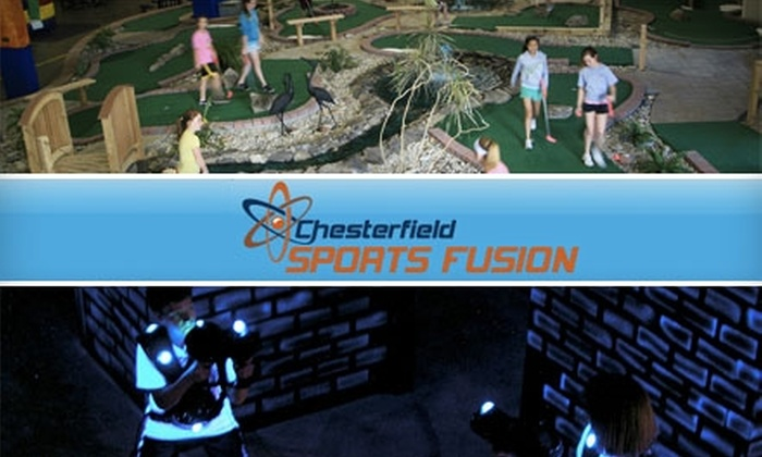 Chesterfield Sports Fusion - Chesterfield: $10 for Laser Tag, Miniature Golf, Rock Climbing, Dodgeball, Jump-Shot Trampoline Basketball, and One Large Fountain Soda at Chesterfield Sports Fusion