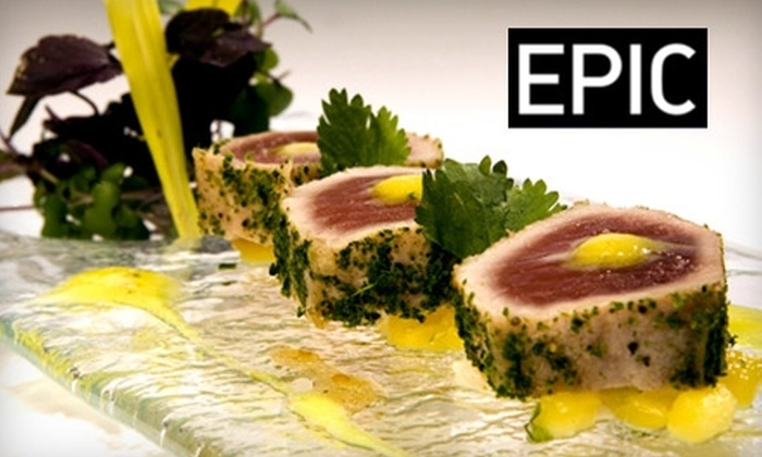 Epic Restaurant - Downtown Toronto: $25 for $50 Worth of Eco-Friendly, Upscale Dining at Epic Restaurant