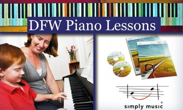 Anyone Can Play! and Childlight Music - Multiple Locations: $49 for Four Piano Lessons and Materials at DFW Piano Lessons ($127 Value)