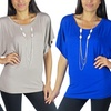 Free to Live Women's Short-Sleeved Dolman Top