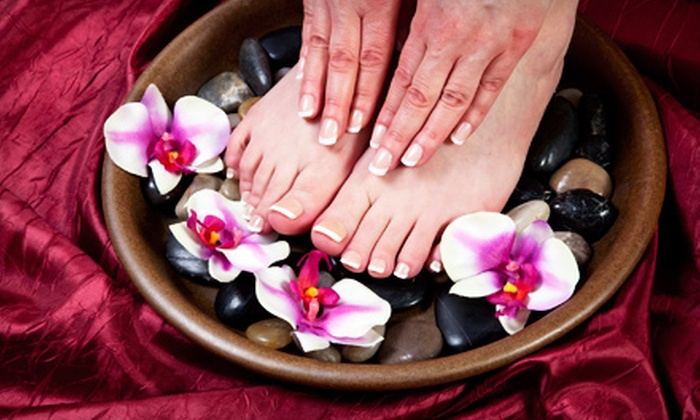The Healing Place Boutique & Nail Salon - Deer Park: Classic or Shellac Manicure and Pedicure at The Healing Place Boutique & Nail Salon in Newport News