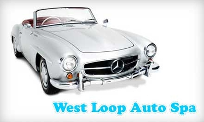 West Loop Auto Spa - West Loop: $10 for a Full-Service Hand Car Wash (Up to $29 Value) or $30 for a Full-Service Hand Wash and Hand Paste Wax ($65 Value) at West Loop Auto Spa