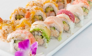 40% Off Sushi at Ponzu Sushi & Grill at Ponzu Sushi & Grill, plus 6.0% Cash Back from Ebates.
