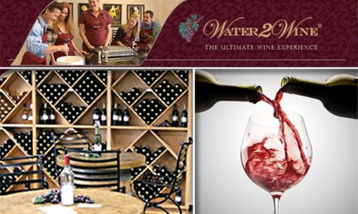 Water 2 Wine - Hesters Crossing Shopping Center: $99 for a Half Batch of Custom Wine from Water 2 Wine
