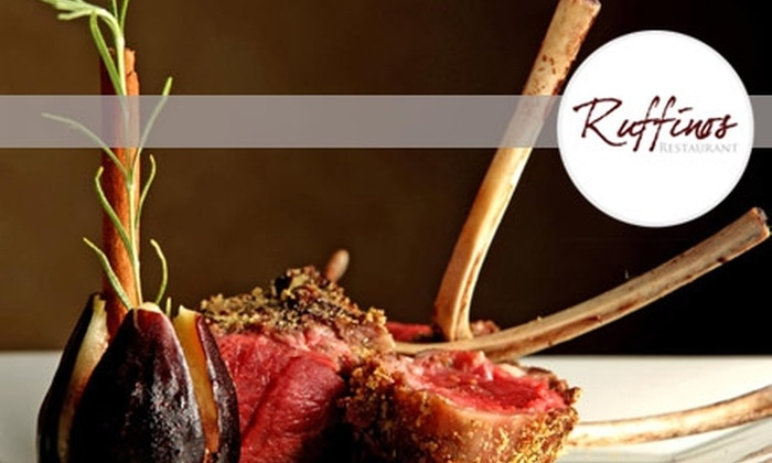 Ruffino's Restaurant - Fort Worth: $20 for $45 Worth of Contemporary Italian and Continental Cuisine at Ruffino's Restaurant