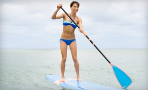 Coastal Paddle Boarding: One-Year Paddleboarding Membership or One-Hour Rental and Lesson for Two from Coastal Paddleboarding (58% Off)