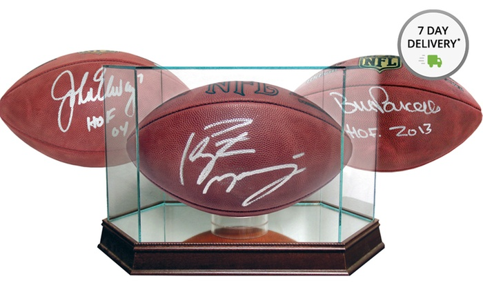 NFL Pro Football Hall of Fame Signed Footballs or Glass Display Case: NFL Pro Football Hall of Fame Signed Football or Glass Display Case. Multiple Options from $44.99–$419.99. Free Returns.