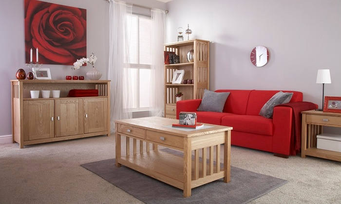 Sovereign oak collection groupon goods Groupon uk living room furniture