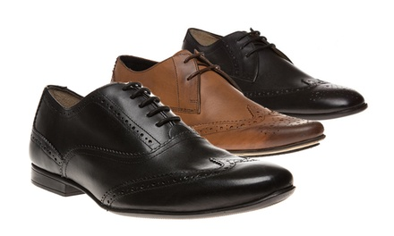 mens ben sherman leather brogues