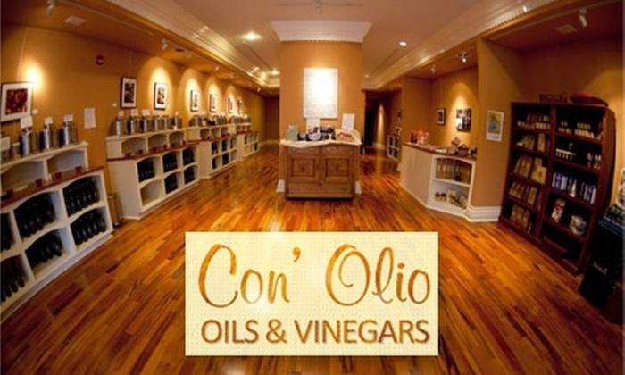 Con' Olio Oils & Vinegars - Austin: $15 for $30 Worth of Gourmet Olive Oils and Vinegars from Con' Olio Oils & Vinegars
