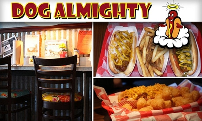 Dog Almighty - South Lamar: $5 for $10 Worth of Award-Winning Hot Dogs and More at Dog Almighty