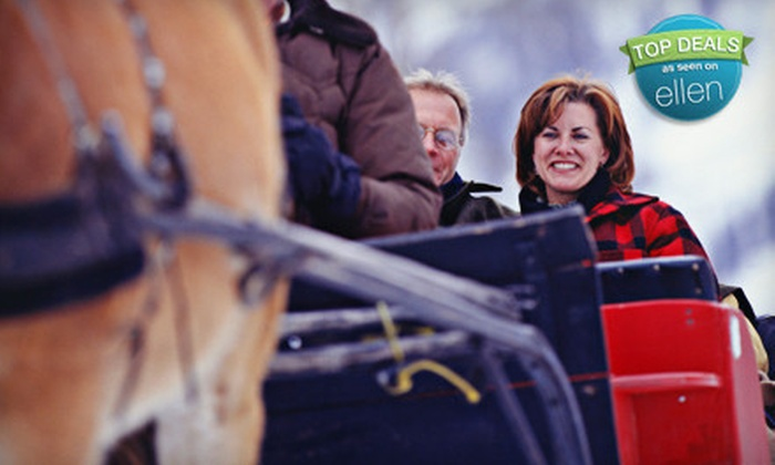 St. Jacobs Horse Drawn Tours - Waterloo: Horse-Drawn Winter Sleigh Ride for Two or Four from St. Jacobs Horse Drawn Tours (50% Off)