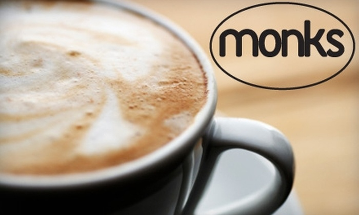 Monks Coffee Shop - Original Town North: $3 for $6 Worth of Fresh Coffee and More at Monks Coffee Shop