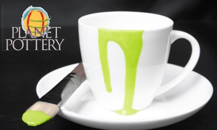 Planet Pottery - Ponte Vedra: $10 for $20 Worth of Pottery Painting and Mosaic Making at Planet Pottery