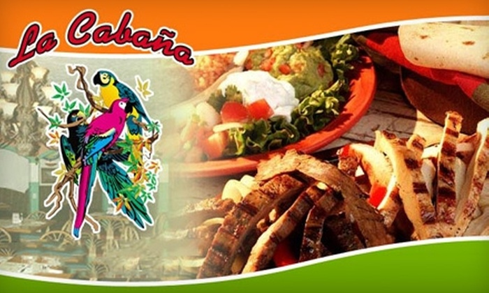 La Cabana - Downtown: $10 for $20 Worth of Mexican Fare and Drinks at La Cabana