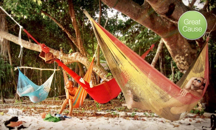 Yellow Leaf Hammocks: Sitting, Queen-Size, or King-Size Hammock Handmade by Mlabri Weavers from Yellow Leaf Hammocks (Up to 42% Off)
