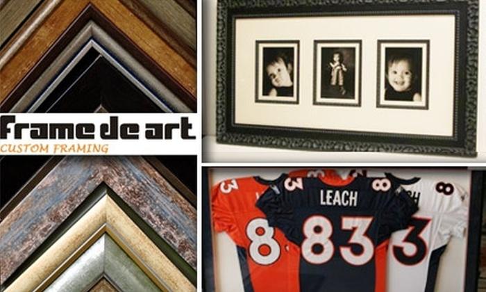 Frame de Art - Denver: $40 for $100 Worth of Custom Framing at Frame de Art in Englewood