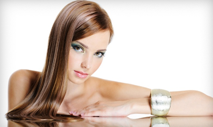 pink Lime Salon & Spa - Downtown: $59 for a Women's Haircut, Wash, Blow-Dry, and Partial One-Colour Highlights at pink Lime Salon & Spa (Up to $190 Value)