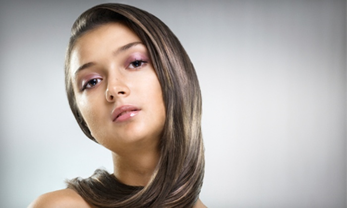 La Scala Salon - Pittsford: Haircut Package with a Deep-Conditioning Treatment and Style, or a No-Chip Gel Manicure at La Scala Salon in Pittsford