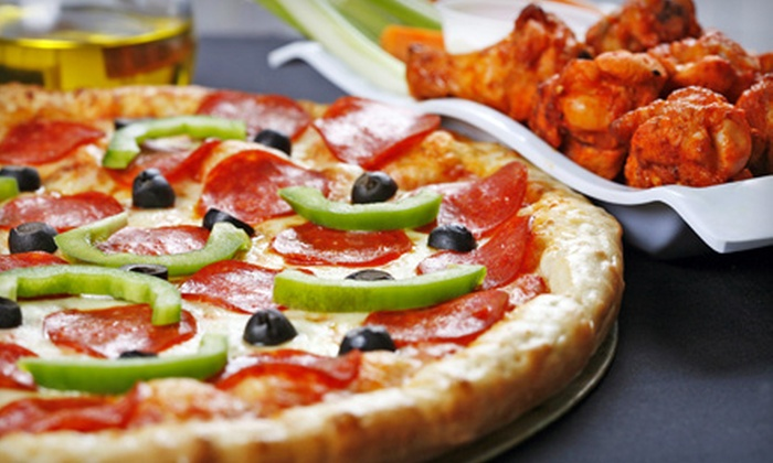 Taylor Street Pizza - Multiple Locations: $15 for a Pizza and Wings Feast from Taylor Street Pizza (Up to $29.25 Value)