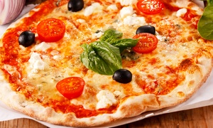 Ria Bella Pizza: Authentic Pizza and Drinks for Two or Four at Ria Bella Pizza (50% Off)