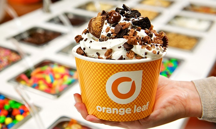 Orange Leaf Frozen Yogurt - Orange Leaf Frozen Yogurt (Dayton): Three Groupons, Each Good for $10 Worth of Frozen Yogurt at Orange Leaf (50% Off)