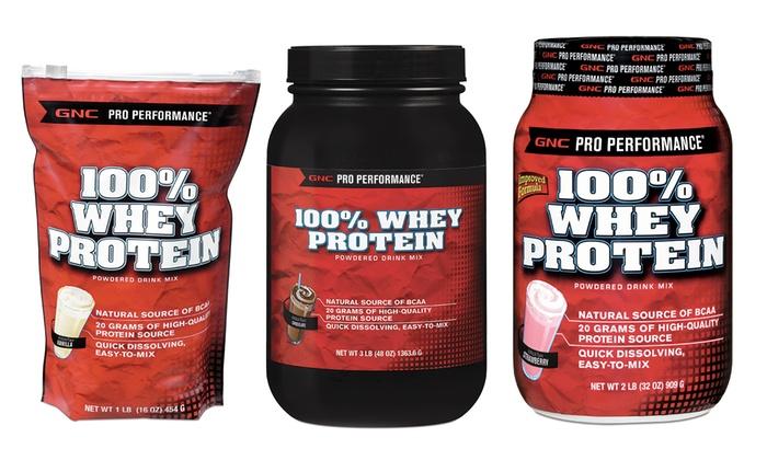Gnc Pro Performance 100 Whey Protein 1 3lb Groupon