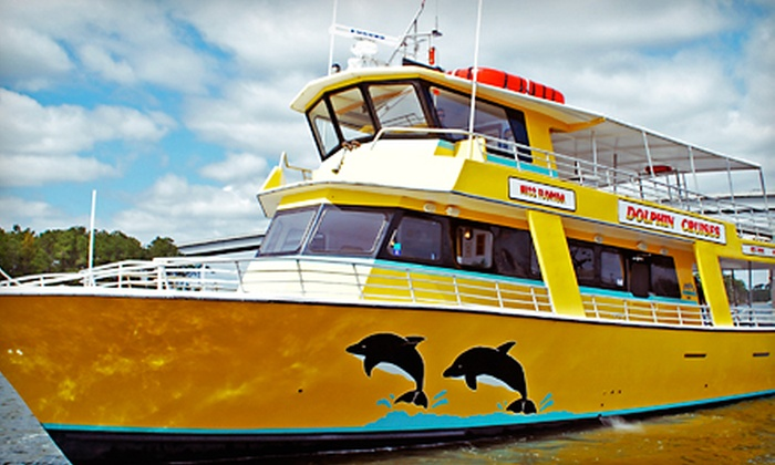 The Miss Florida Dolphin Cruise at The Wharf - Orange Beach: Dolphin-Watching Cruise from The Miss Florida Dolphin Cruise at The Wharf (Up to 55% Off). Three Options Available.