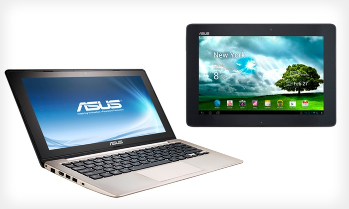 "ASUS 11.6"" Laptop and Tablet Bundle: $529.99 for an ASUS Laptop and Tablet Bundle (Manufacturer Refurbished) ($859.98 List Price). Free Shipping and Returns."