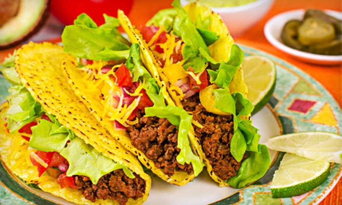 Los Tacos - Multiple Locations: Mexican Food at Los Tacos (Up to 63% Off). Two Options Available.