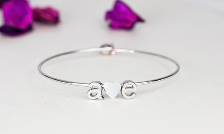 $5 for a Mini Initial Bangle Bracelet from MonogramHub ($42.99 Value)