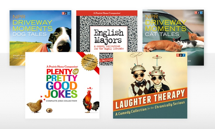 NPR Radio Show and Other Humorous Books on CD: NPR Radio Show and Joke Compilation CDs. Multiple Shows Available from $10.99-$24.99. Free Returns.