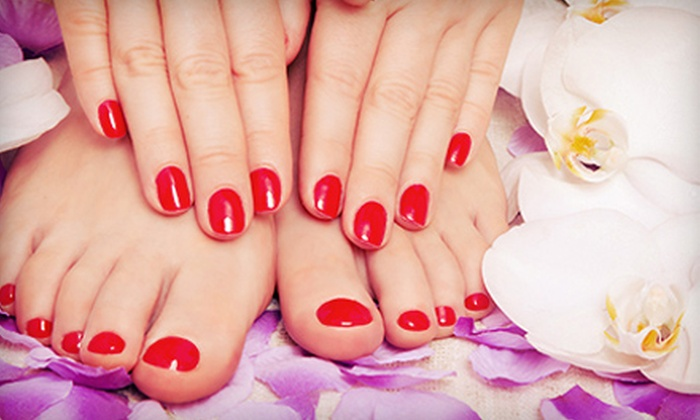Ocean Nail & Spa - Bluffview: One or Two Shellac Manicures with Pedicures at Ocean Nail & Spa (Up to 55% Off)