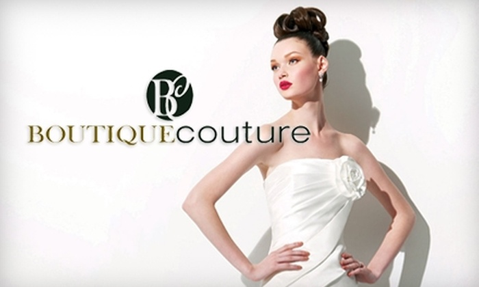 Boutique Couture - Downtown Chattanooga: $35 for $75 Toward Designer Women's Evening Wear or $100 for $300 Toward a Bridal-Gown Order at Boutique Couture