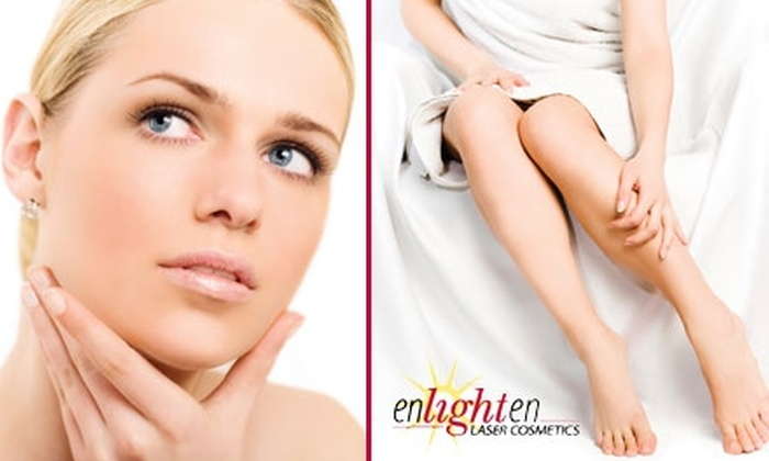 Enlighten Laser Cosmetics - Bountiful: $99 for Six Laser Hair-Removal Treatments at Enlighten Laser Cosmetics (Up to $617 Value)