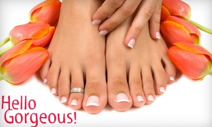 Hello Gorgeous Salon and Day Spa - North Benton: $29 for Spa Manicure and Deluxe Pedicure ($75 Value) at Hello Gorgeous Salon and Day Spa