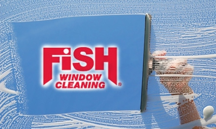 Fish Window Cleaning - Providence: $40 for $80 Worth of Window and Gutter Cleaning from Fish Window Cleaning