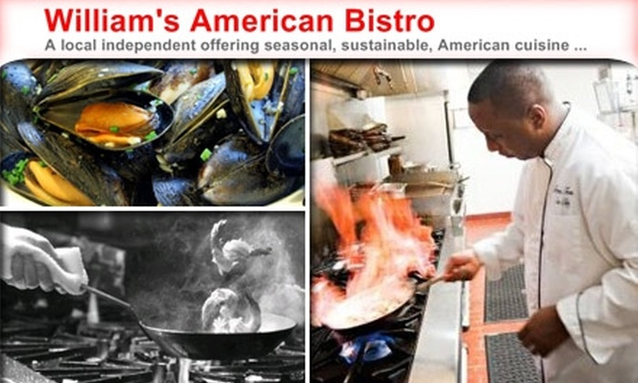 William's American Bistro - Washington DC: $10 for $25 Worth of Sustainable Fare and Microbrews at William's American Bistro