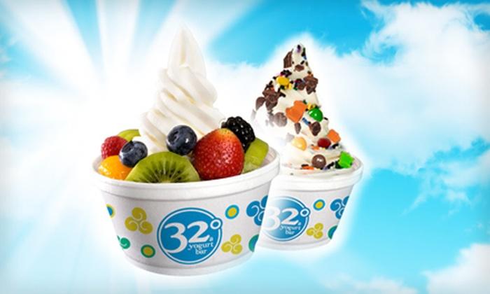 32 Degrees A Yogurt Bar  - Huntsville: $6 for $12 Worth of Self-Serve Frozen Yogurt at 32 Degrees A Yogurt Bar
