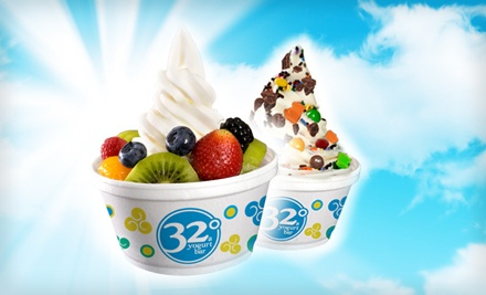 $12 Groupon to 32 Degrees A Yogurt Bar - 32 Degrees A Yogurt Bar  in Madison