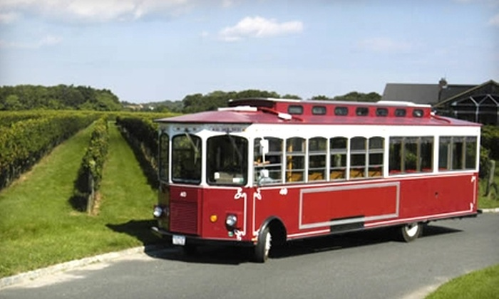 North Fork Trolley Company - Long Island: $50 for Two Tickets to Three Winery Trolley Tour from North Fork Trolley Company in Riverhead ($100 Value)