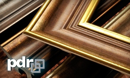 $125 Groupon to PDR Picture Frames - PDR Picture Frames & Gallery in Waterloo